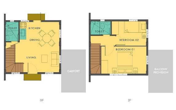 Bella Floor Plan House and Lot in Silang