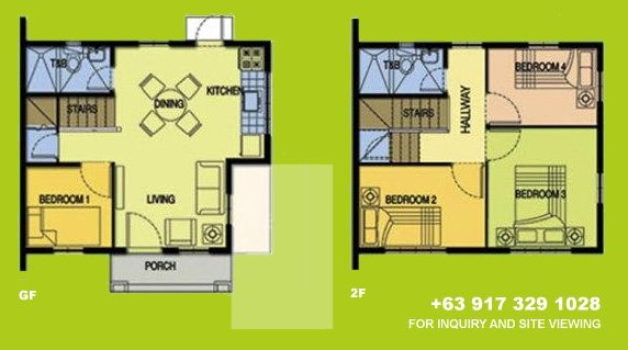 Carina Floor Plan House and Lot in Silang