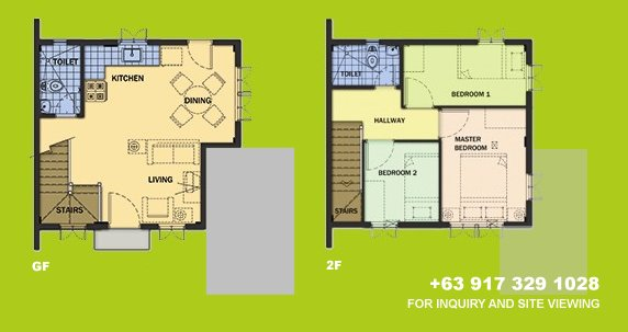 Carmela Floor Plan House and Lot in Silang