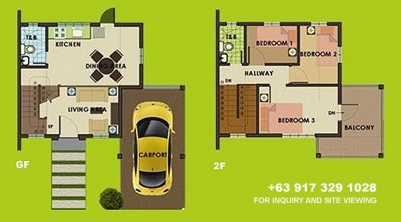 Carmina Downhill Floor Plan House and Lot in Silang