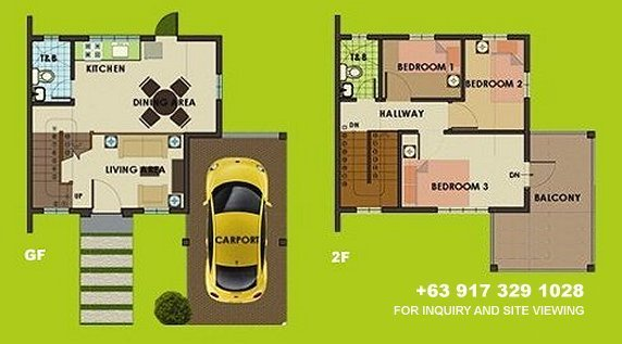 Carmina Uphill Floor Plan House and Lot in Silang