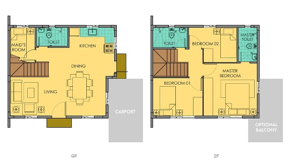 Dana Floor Plan House and Lot in Silang