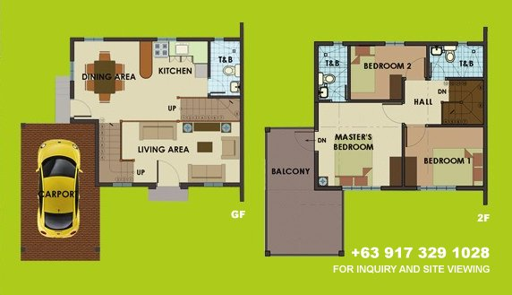 Dorina Uphill Floor Plan House and Lot in Silang