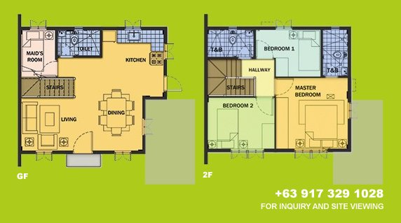 Drina Floor Plan House and Lot in Silang