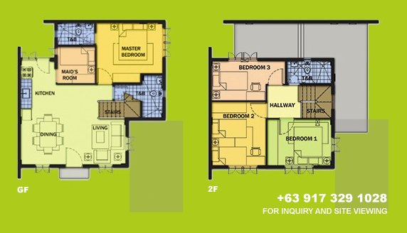 Elaisa Floor Plan House and Lot in Silang