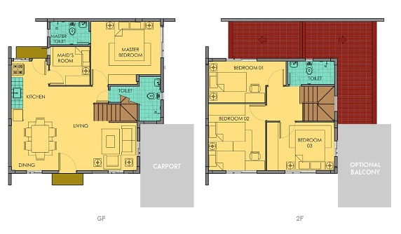Ella Floor Plan House and Lot in Silang