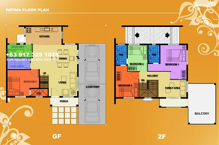 Fatima Floor Plan House and Lot in Silang
