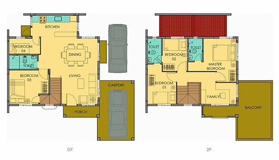 Freya Floor Plan House and Lot in Silang