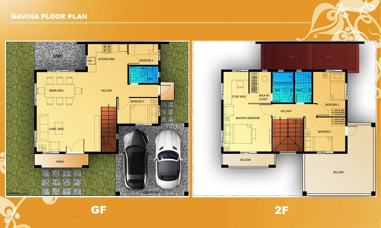 Gavina Floor Plan House and Lot in Silang
