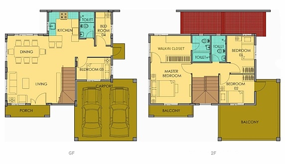 Greta Floor Plan House and Lot in Silang