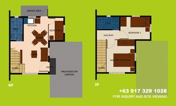 Mara Floor Plan House and Lot in Silang